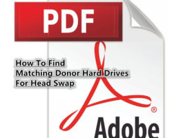Donor Hard Drive Sourcing Book For Head Swap