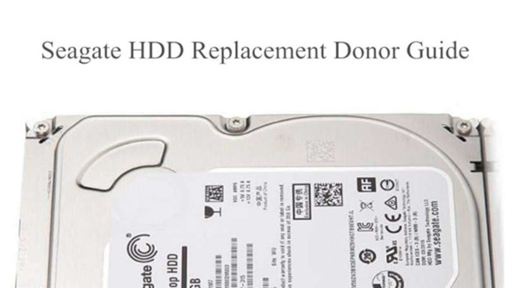 Seagate Head Replacement Donor Guide
