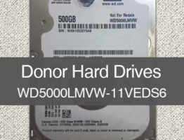 WD5000LMVW-11VEDS6 2060-771962-000 Donor Drive