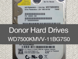 WD7500KMVV-11BG7S0 750G USB Donor Drive