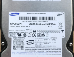 Samsung SP0802N Clicking HDD Fix Tip